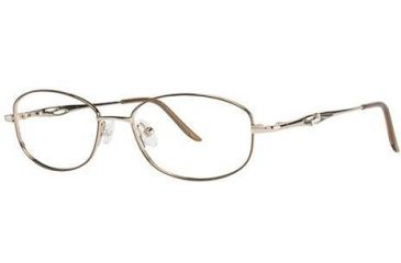 LAmy C by L'Amy 508 Single Vision Prescription Eyeglasses - Frame Gold, Size 50/16mm CYCBL50802