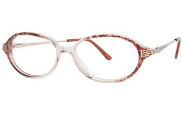 LAmy C by L'Amy 516 Single Vision Prescription Eyeglasses - Frame Red/Gold, Size 51/14mm CYCBL51602