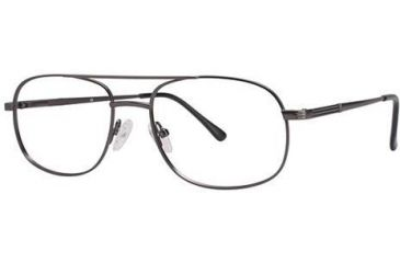 LAmy C By L'Amy 608 Single Vision Prescription Eyeglasses - Frame Semi Matte Pewter, Size 53/17mm CYCBL60801