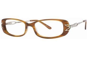 LAmy C by L'Amy 824 Single Vision Prescription Eyeglasses - Frame Marbled Brown, Size 51/15mm CYCBL82401