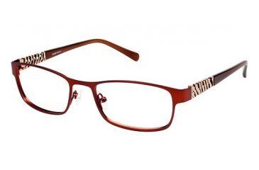 LAmy Cadence Progressive Prescription Eyeglasses - Frame Matte Nude Rose / Light Brown LYCADENCE02