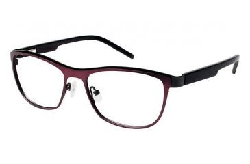 LAmy Charlotte Eyeglass Frames - Frame Matte Burgundy/Black, Size 53/16mm LYCHARLOTTE01