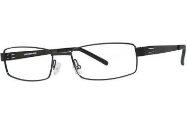 LAmy Dasko 1015 Single Vision Prescription Eyeglasses - Frame Black/Olive, Size 55/18mm LYDASKO101504