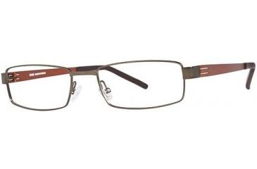 LAmy Dasko 1015 Single Vision Prescription Eyeglasses - Frame Brown/Sienna, Size 55/18mm LYDASKO101505