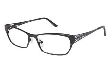 LAmy Elaina Progressive Prescription Eyeglasses - Frame Black / Violet, Size 53/16mm LYELAINA01