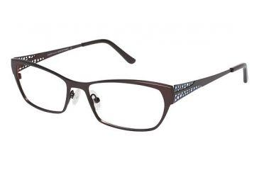 LAmy Elaina Progressive Prescription Eyeglasses - Frame Chocolate / Light Blue, Size 53/16mm LYELAINA02