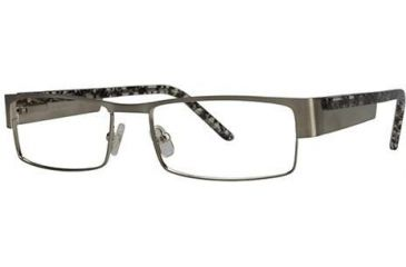 LAmy Jacques Bifocal Prescription Eyeglasses - Frame Brushed Silver/Grey Tortoise, Size 55/17mm LYJACQUES03