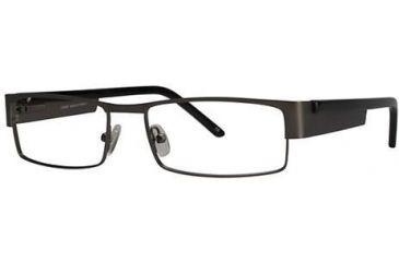 LAmy Jacques Progressive Prescription Eyeglasses - Frame Pewter/Black, Size 55/17mm LYJACQUES01