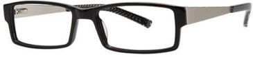 LAmy Julian Single Vision Prescription Eyeglasses - Frame Black, Size 55/17mm LYJULIAN03