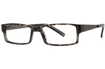 LAmy Julian Single Vision Prescription Eyeglasses - Frame Grey Tortoise, Size 55/17mm LYJULIAN02