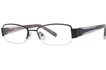 LAmy Justine Single Vision Prescription Eyeglasses - Frame Black/Black/Pink, Size 50/17mm LYJUSTINE01