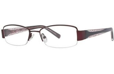 LAmy Justine Single Vision Prescription Eyeglasses - Frame Burgundy/Black, Size 50/17mm LYJUSTINE03