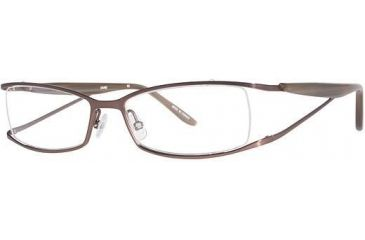 LAmy LeafUS 1010 Progressive Prescription Eyeglasses - Frame Chocolate/Sand, Size 52/16mm LYLEAFUS101001