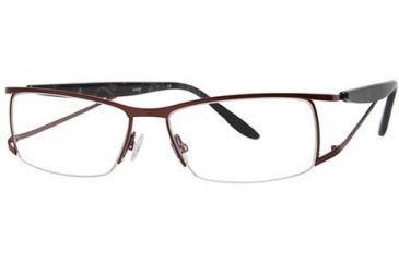LAmy LeafUS 1012 Progressive Prescription Eyeglasses - Frame Claret/Light Grey, Size 52/15mm LYLEAFUS101203