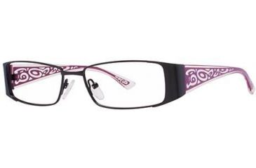 LAmy Orfea 1012 Progressive Prescription Eyeglasses - Frame Black/Burgundy, Size 52/15mm LYORFEA101204