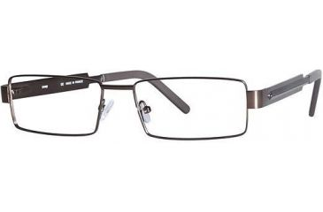 LAmy Plug 1013 Progressive Prescription Eyeglasses - Frame Semi Matte Brown/ Blue LYPLUG101305