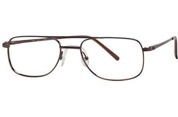 LAmy W-Port 501 Single Vision Prescription Eyeglasses - Frame BRIGHT DARK BROWN, Size 55/19mm LYWPORT50102L