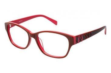 LAmy Zoe Progressive Prescription Eyeglasses - Frame Burgundy/Rose, Size 53/15mm LYZOE03