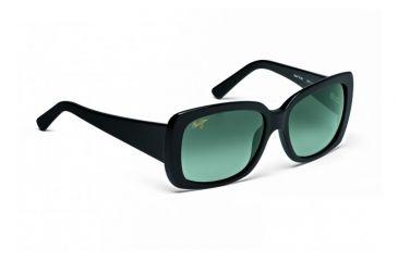 Maui Jim Lani Sunglasses w/ Gloss Black Frame and Neutral Grey Lenses - GS239-02, Quarter View