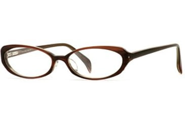 Laura Ashley Lana SELA LANA00 Single Vision Prescription Eyewear - Amber SELA LANA005335 BN