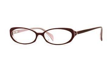 Laura Ashley Lana SELA LANA00 Progressive Prescription Eyeglasses - Burgundy SELA LANA005335 RD