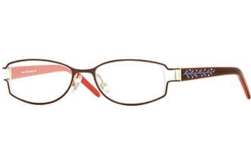 Laura Ashley Rosetta SELA ROST00 Eyeglass Frames - Radish SELA ROST004925 BUR