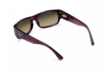Maui Jim Lava Flow Sunglasses w/ Burgundy Tortoise Frame and HCL Bronze Lenses - HS250-10B, Back View