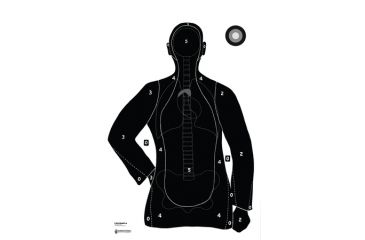 Law Enforcement Targets B-21E Blue With Anatomy Scoring 23x35 Inch 100 Per Pack