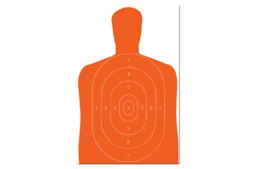 Law Enforcement Targets B-27E Economy Silhouette Target 23x35 Inch Orange 100 Per Case