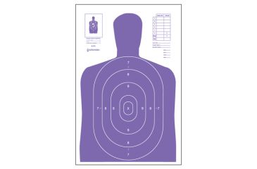 1-Law Enforcement Targets High Visibility Fluorescent B-27E Indoor Target Purple 23x35 Inch 100 Per Case B-27E-PR