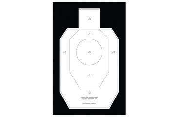 Law Enforcement Targets IDPA-P Official Paper Practice Target 23x35 Inch White On Black 100 Per Case