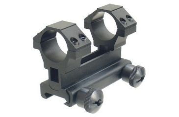Leapers 3-Points Eye Relief Adjustable Integral Carry Handle Ring Mount Complete with Flat Top Adaptor. MNT-168S