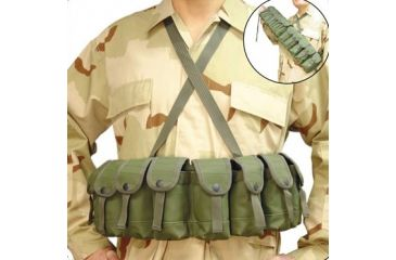 Leapers Deluxe Rifle Chest Harness OD Green PVC-816G