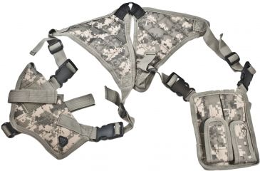 Leapers Deluxe Universal Horizontal Shoulder Holster, Army Digital Camo PVC-H170R