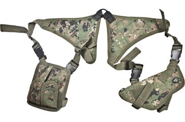 Leapers Deluxe Universal Horizontal Shoulder Holster, Woodland Digital Camo PVC-H170E