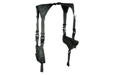 Leapers Deluxe Universal Horizontal Shoulder Holster, Black PVC-H170B