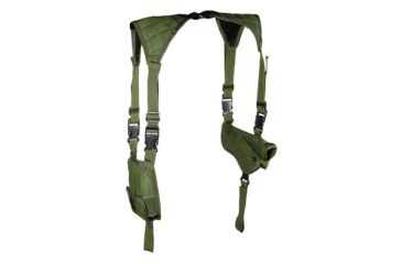 Leapers Deluxe Universal Horizontal Shoulder Holster - OD Green