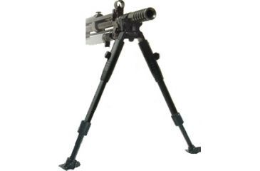 1-Leapers Low-Profile Dragon Claw Clamp-on Barrel Bipod-Steel Stands TL-BP08ST
