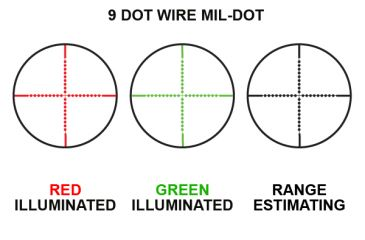 Leapers RGB Illuminated Mil-Dot Reticle