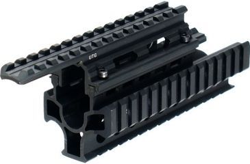 Leapers UTG Model 47 2-Piece Tactical Quad Rail Interlocking System with Quick Fit Features MNT-T478S