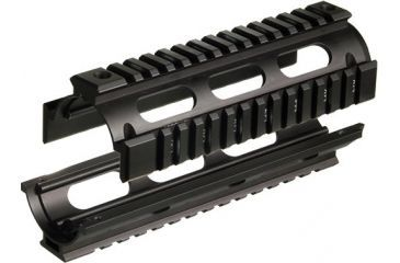Leapers UTG PRO Made in USA Model 4 Carbine Length Tactical Quad Rails MTU001 open
