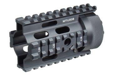 Leapers UTG PRO AR Pistol Free Float Quad Rail System MTU008