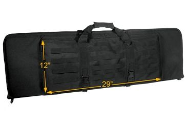 Leapers Combat Web 38in Rifle Case, Black PVC-RC38B