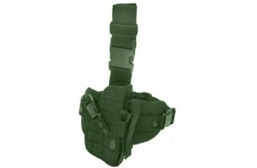 Leapers Special Ops Universal Tactical Leg Holster, OD Green PVC-H178G