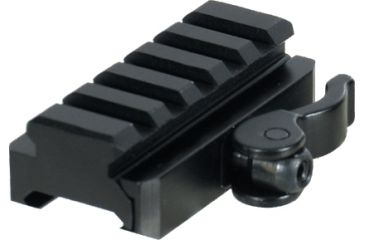 Leapers UTG 5-Slot Universal QD Lever Lock Adaptor and Riser, 15mm/Saddle Ht., 60mm/Length MNT-RSQD605