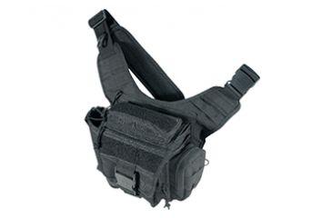 Leapers UTG Covert Carry Ambidextrous Messenger Bag - Black PVC-P219B