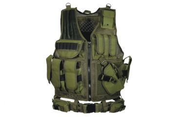 Leapers Deluxe Tactical Vest, OD Green - PVC-V547GT