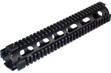 Leapers UTG Pro Model 4/15 Rifle Length Quad Rail System - Black MTU003