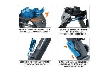 4-Leapers UTG Super Duty Op Bipod w/ QD Lever Lock