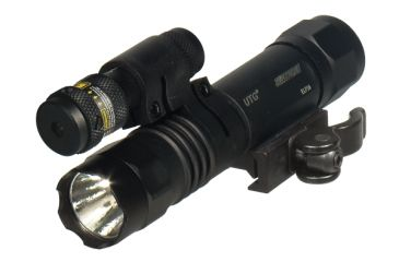 Leapers UTG Tactical LED Flashlight & Red Laser Sight w/ Integral QD Mount LT-ELP38Q